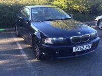 BMW 3 series coupe 12 MONTHS MOT