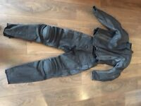 R K Sports ladies leather jacket and trousers - never worn