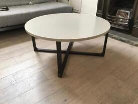 IKEA RISSNA round coffee table in beige