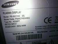 50 inch plasma tv spar3s or repair working no remote