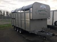"Graham Edwards DM12T 12""x 6'6"" demountable livestock trailer no vat"