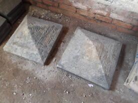 Victorian Pillar Cap, Capping stone