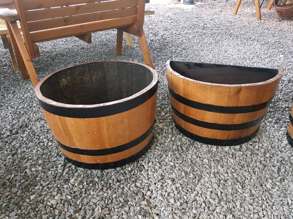 Oak Whiskey Barrel Planters In County Armagh Gumtree