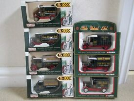 Model toy cars - Eddie Stobart model vans.