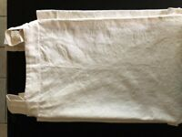 Ivory Embossed Full Length Tab Top Curtains