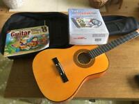 Guitar with accessories