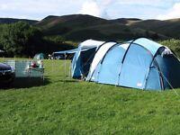 Coleman Darwin 5+ Tent, Blue, Immaculate, Huge, Bargain!