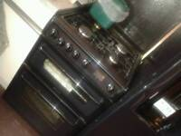 Black double oven hotpoint cooker
