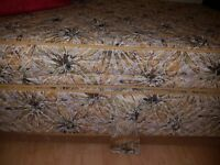 Lovely victorian style gold floral double bed for sale