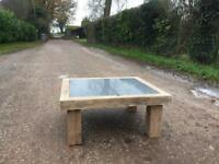 Hand made bespoke rustic coffee table
