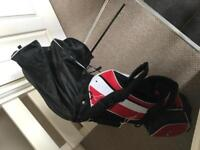 Golf bag complete with stand and clubs (used)