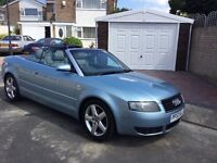 Audi A4 1.8 t convertible 2003 facelift model 2 door mot end January service history power roof