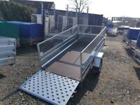 BRAND NEW TRAILER 7.7 x 4.2 MANUAL TIPPING SINGLE AXLE WITH 40CM AND A RAMP