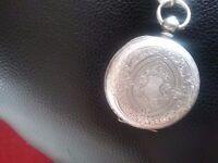 Ladies swiss silver fob watch 325 pre 1930,s