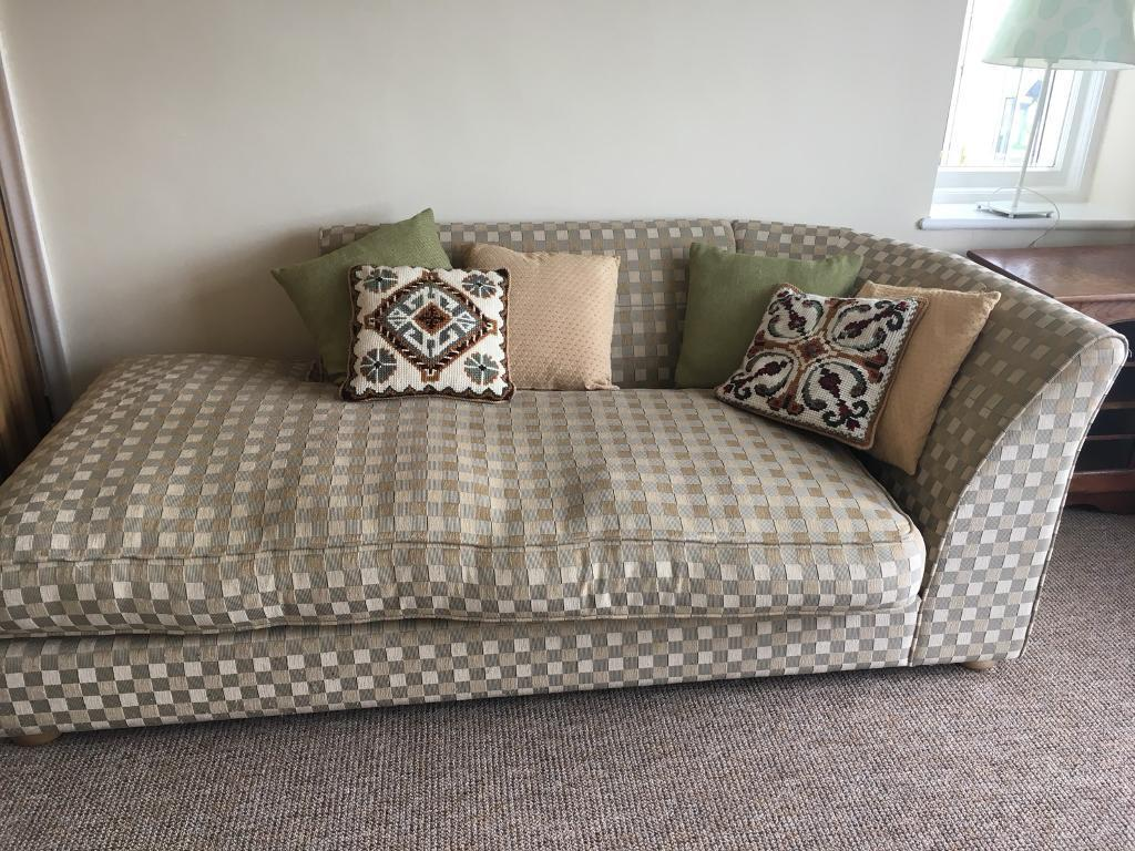 Quality large 4 Seater Chaise Sofa Cream