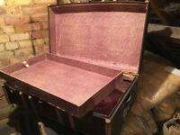 Harry Potter style trunk, antique cabin case with lift-out compartment hogwarts