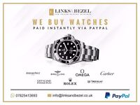 Want to sell your watch? We want it! - we buy Rolex, Omega, TAG Heuer & many more!!