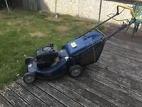 petrol mower self propelled with bag been stood a while bargain