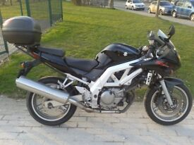 Suzuki SV650S black 19500 miles + top case + rain cover