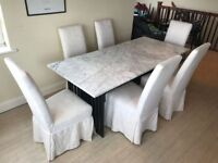 White Marble Dinner Table (Calligaris Eclisse like) - £180