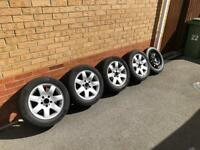 BMW 16 inch 5x120 Alloy Wheels and Spare