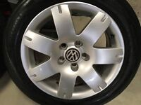 16'' VW PASSAT SPORT ALLOYS WITH TYRES SUIT GOLF CADDY SEAT LEON TDI SPORT AIDI A4 a6
