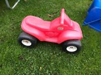 Little Tikes red quad bike and scooter