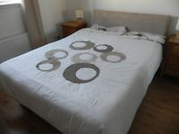 Double Bed with Duvet, Duvet Cover and Matching Pillow Cases. 2 available