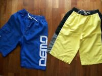 BOYS SWIM SHORTS x 2 PAIRS AGE 13/14 DEMO SPORTS