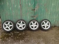 3 stud alloy wheels (Saxo or 106)