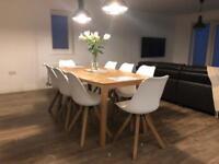 Oak Veneer 180cm table
