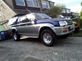 Mitsubishi L200 pick up, towbar, truck top, MOT