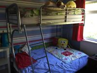 Bunk bed for sale with futon sofa which expands to double bed