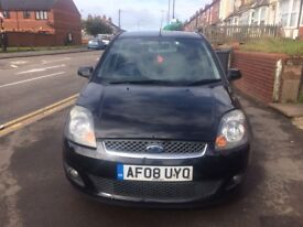 Ford Fiesta 1.25 Zetec Climate Petrol 5Dr In Black with Service History