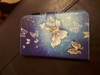 7 inch tablet case blue with butterflies