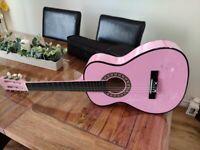 Kid's Pink Guitar (6 string)