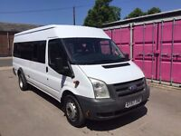 FORD TRANSIT MINIBUS 17 SEATER, 57REG, COIF, XXLWB, 140BHP, FOR SALE