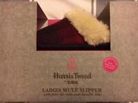 Harris Tweed ladies mule slipper
