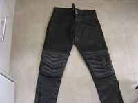 DYNAMIC LEATHERS Cow Hide Black Motorbike Trousers w36 (Ruislip)