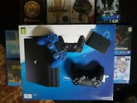 Ps4 pro 2 controllers games bundle and pstv