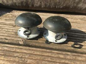 Vintage Solid brass cabbing vents for old canal boat