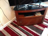 TV cabinet solid wood corner type. Excellent condition.