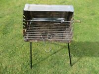 BBQ on a stand with Rotisserie