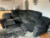 La-Z-Boy Lazy Box Black Corner Sofa with 2 manual recliners - Excellent Condition