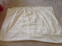 Pair of white/cream curtains 138x85 Inches each
