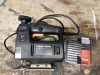 Black and Decker Jigsaw with wood and metal blades