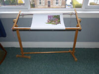 Embroidery Frames/ One large with stand and one small