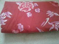Double size fitted sheet, very large throw/bedspread, cushion