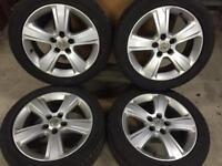 "17"" Vauxhall alloy wheels 5/110 fit Astra vectra Zafira 5 stud models"