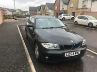 Bmw 1 series Automatic 120i Petrol Black Dakota leather top of range Tax MOT & insured